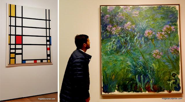 """""""Trafalgar Square"""", de Mondrian, e """"Ninfeias"""", de Monet, no MoMa de Nova York"""