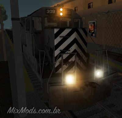 gta sa mod hd train freight remaster lights