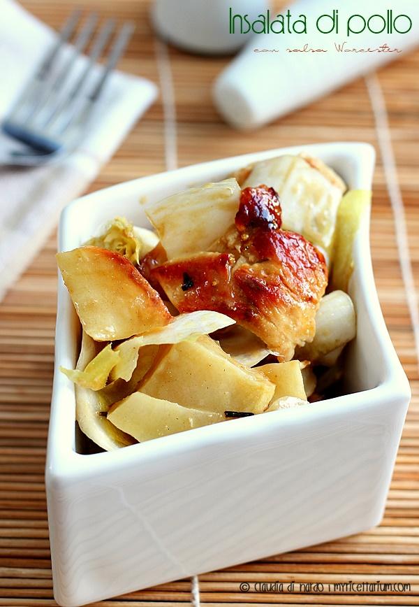 Insalata di pollo con salsa Worcester