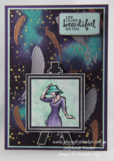 Painter's Palette, Beautiful You, Emboss Resist, #thecraftythinker, Stampin Up Australia Demonstrator, Stephanie Fischer, Sydney NSW