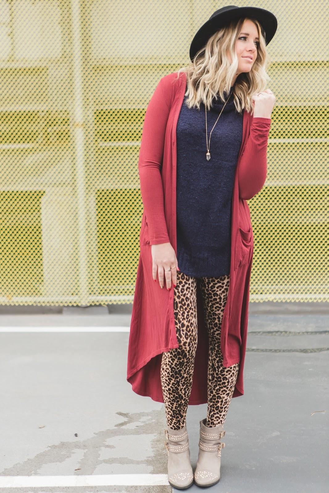 Utah fashion Blogger, Modesty, Leopard Leggings