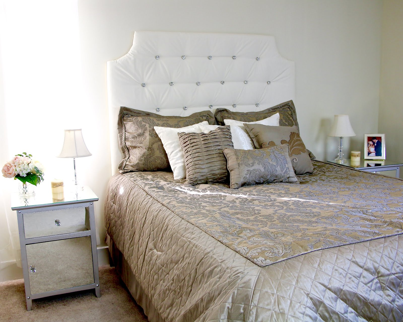 Video Diy Easy Tufted Headboard Hack For Cheap 25 Crystal