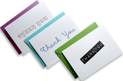 New letterpress thank you card designs by inviting in Austin Tx.