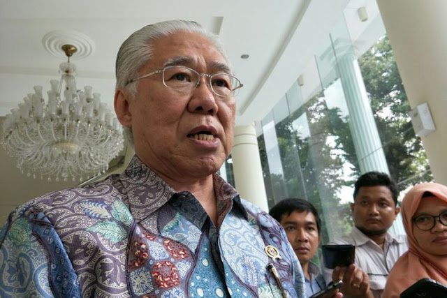 Menteri Perdagangan Enggartiasto Lukita ketika ditemui di Kantor Wakil Presiden RI, Jakarta, Senin (9/4/2018).