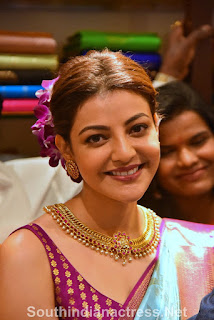 indian 2 tamil movie actress kajal agarwal grand launch of vidhatri shopping mall event Pictures 3