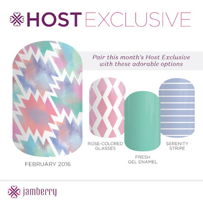 jamberry, february 2016, hostess exclusive, nail art, nail wraps