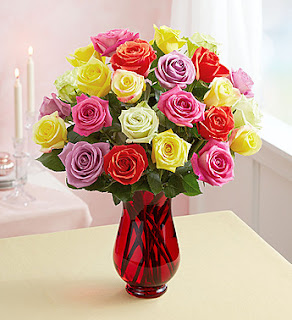 Two Dozen Assorted Roses for R...