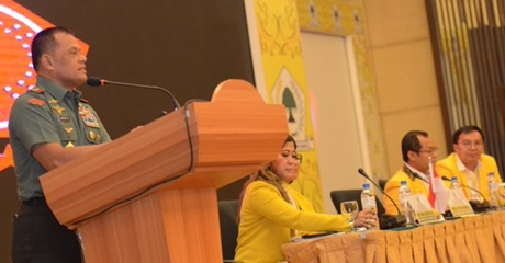Jenderal Gatot Nurmantyo Pidato Pada Rapimnas Golkar, Peserta: Hidup Sapta Marga! Capres, Capres!