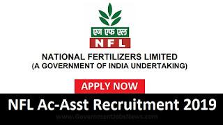 National Fertilizers Limited NFL Recruitment Accounts Assistant 2019