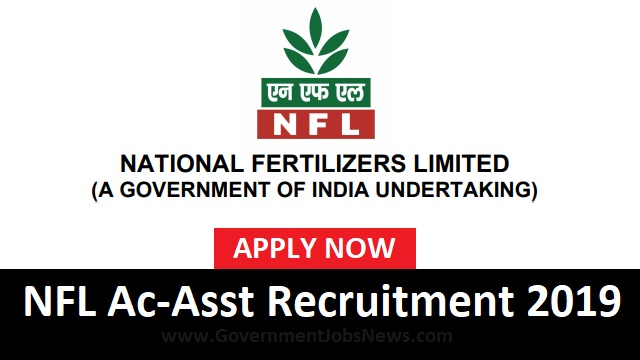 National Fertilizers Limited NFL Recruitment Accounts Assistant 2019