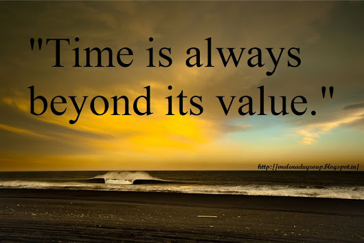 Quotes On Time And Its Value