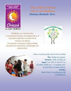 Biodanza en la Casa Chiesué en Antonio Nariño