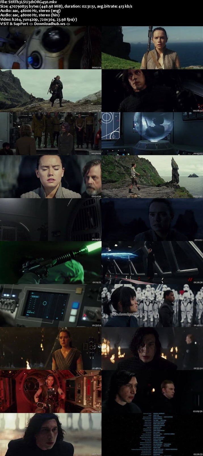 Star Wars The Last Jedi 2017 Hindi Dual Audio 480p BluRay Free Download