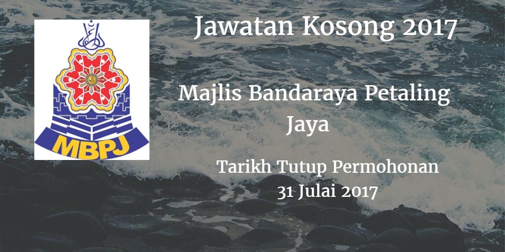 Jawatan Kosong MBPJ 31 Julai 2017