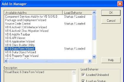 Cara Menampilkan Data di Database VB6 di Form Wizard