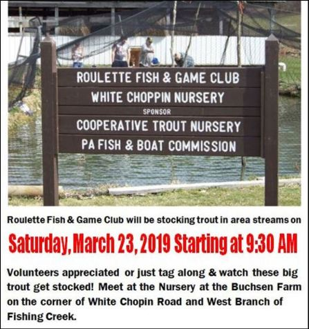 3-23 Trout Stocking, Roulette Fish & Game