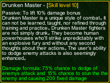 naruto castle defense 6.4 Rock Lee Drunken Master detail