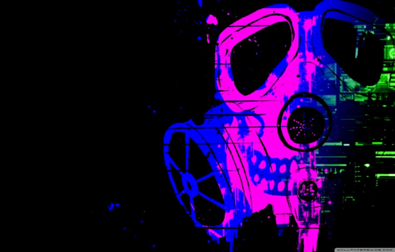 Cool Skull With Gas Mask Wallpapers Viva Wallpapers