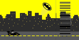 Batman in Black and Yellow, Free Printable Ticket  Invitations.