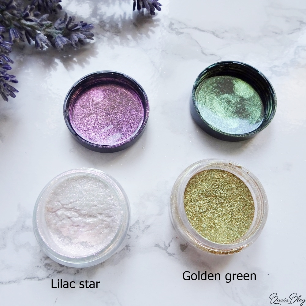 sypkie pigmenty cienie My Secret, Lilac star, Golden Green, My Secret Magic Dust Pigment