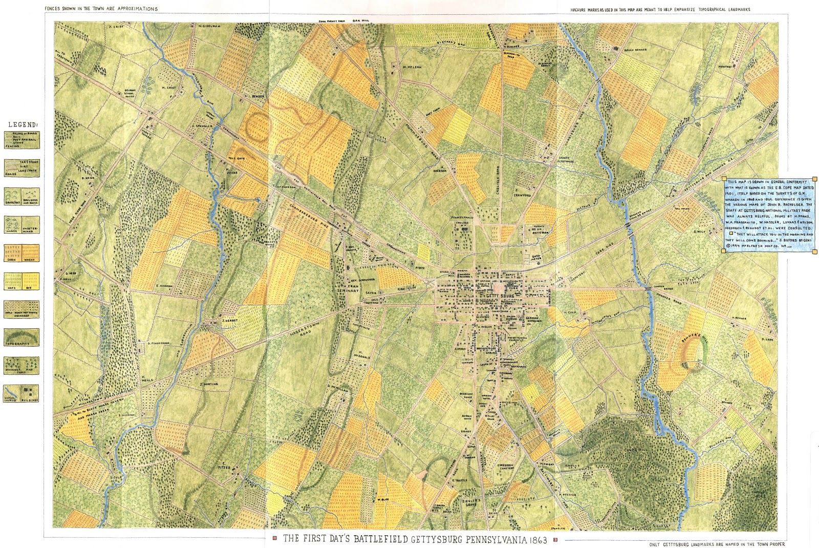 Gettysburg Topographic Map.Gis Research And Map Collection Gettysburg Battlefield Maps