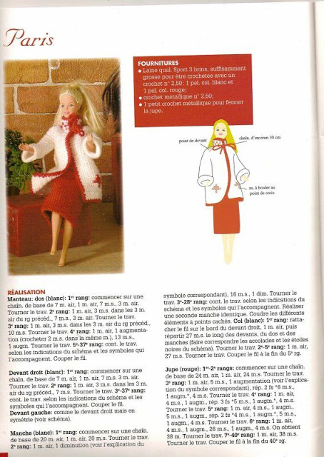 modèle tricot barbie gratuit
