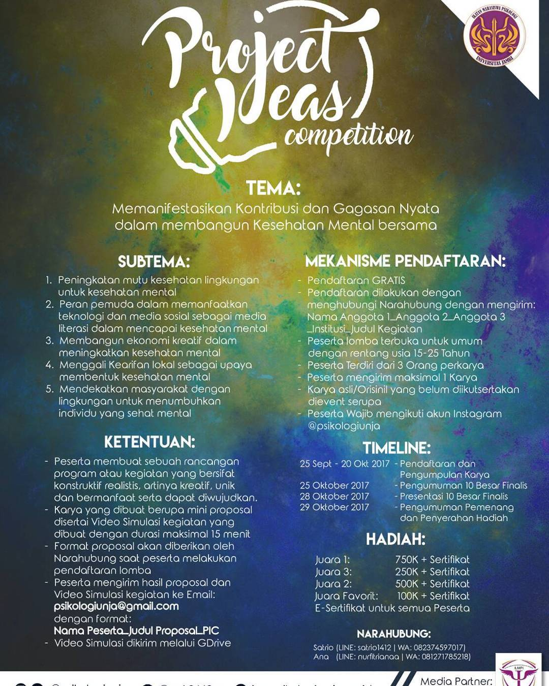 Project Ideas Competition 2017 | Univ. Jambi | Umum