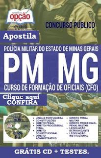 Apostila Polícia Militar de MG - concurso CFO PM-MG 2017, para Curso de Formação de Oficiais - PM/MG 2016.