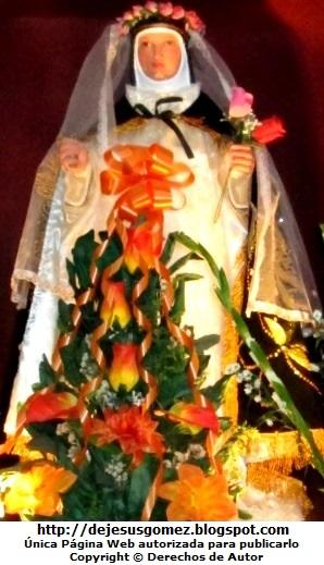 Foto de Santa Rosa de Lima rodeada de flores por Jesus Gómez