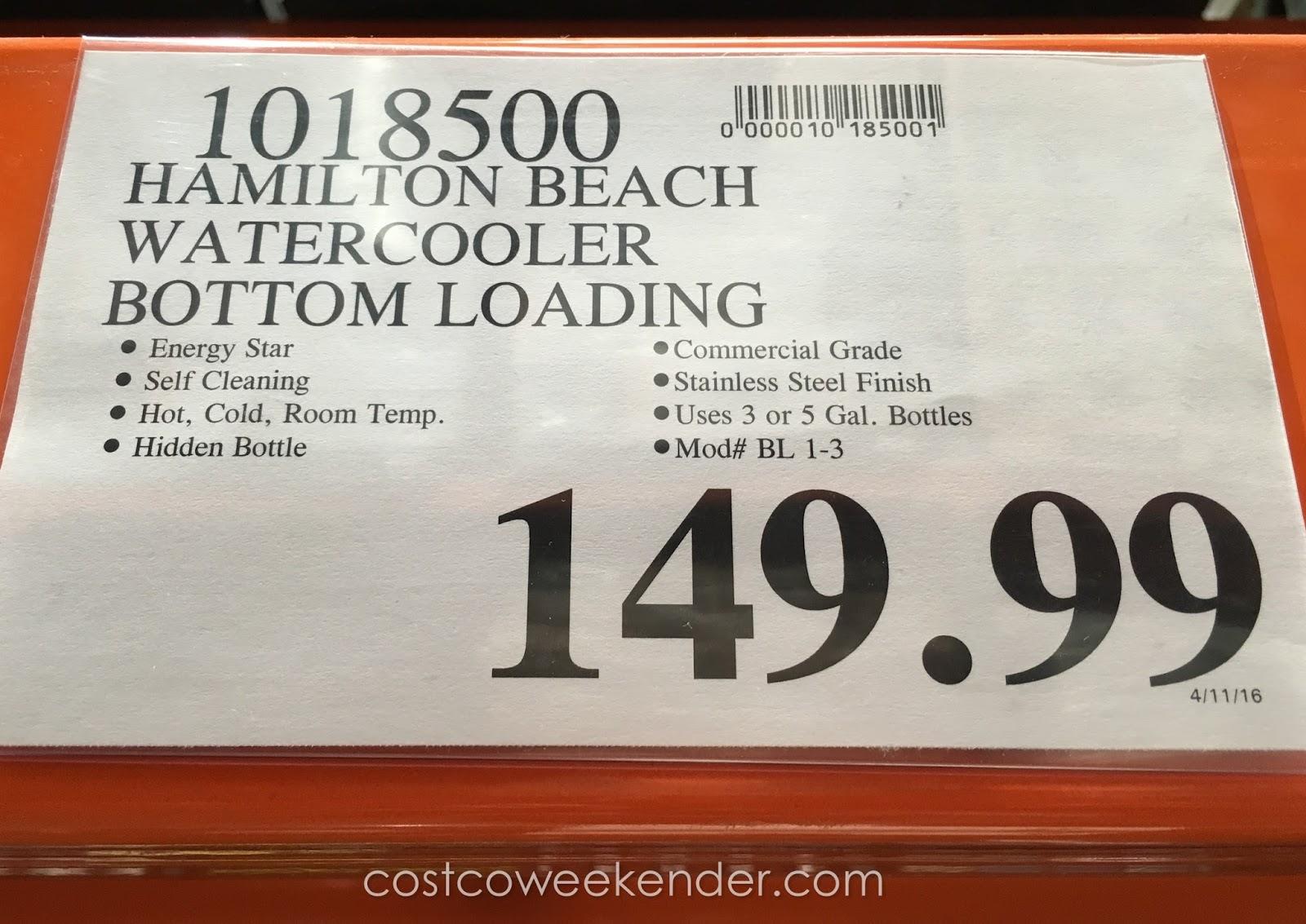 Hamilton Beach BL-1-3 Water Dispenser   Costco Weekender