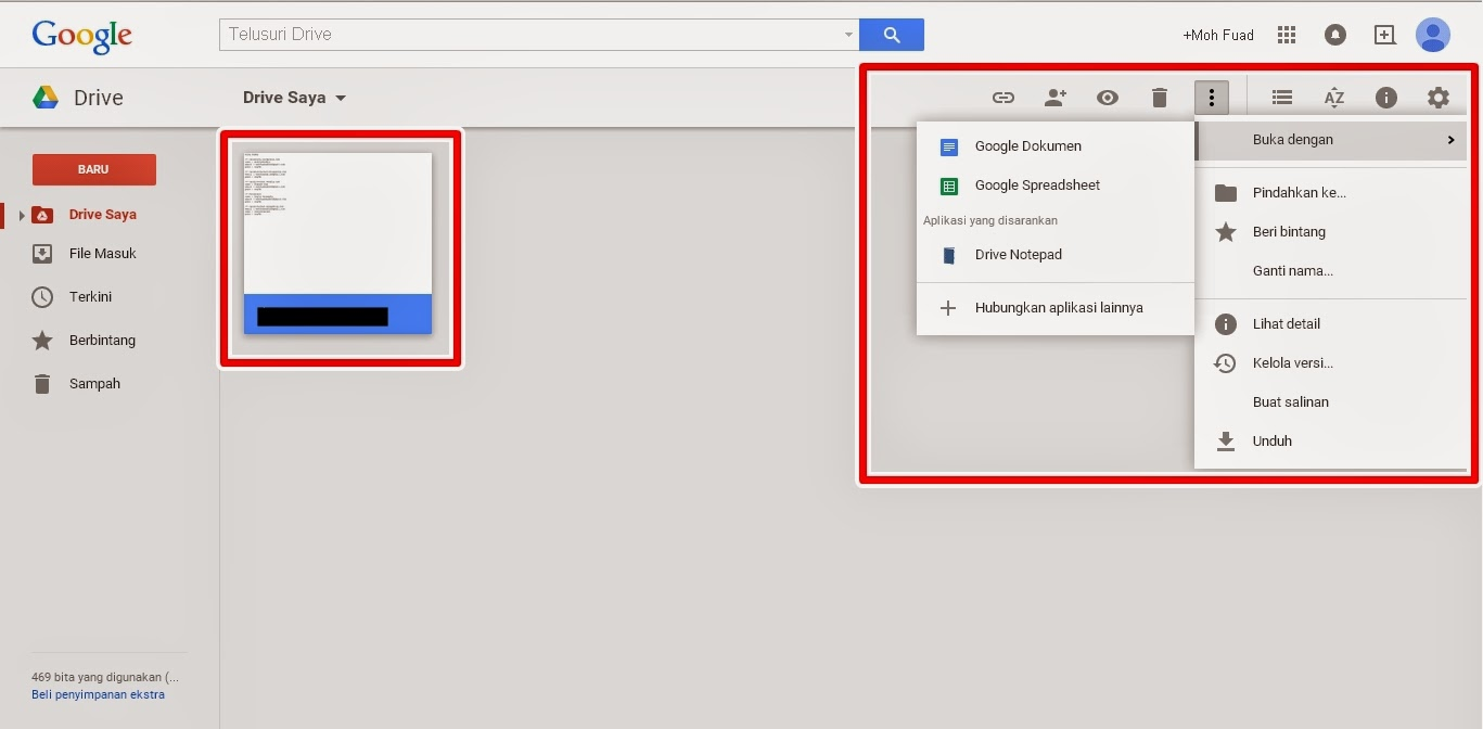 Cara Setting File di Google Drive