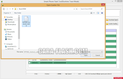 pilih scatter file