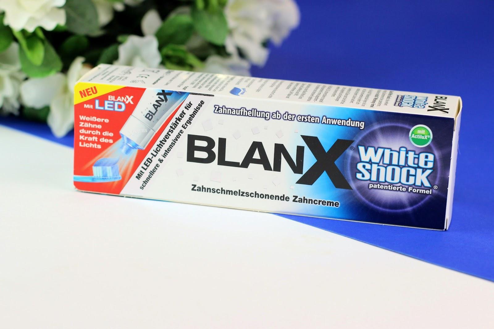 beautypress, BlanX White, erfahrung, intensiv kur, LED Lichtschiene, review, Shock, strahlendes lächeln, weisse zähne, wirkung, zahncreme, Zahnpflegeserie, Zahnverfärbungen schonend entfernen,