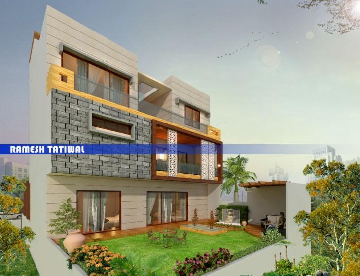 Xline Architects and Interior Decorators Luxury Bungalow design