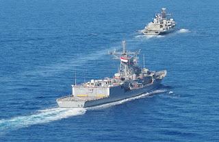 بدء مناورات بحرية مصرية بريطانية مشتركة بالبحر الأبيض المتوسط
