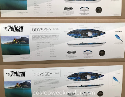 Costco 1172276 - Pelican Odyssey 100X Sit In Kayak: great for any outdoor enthusiast