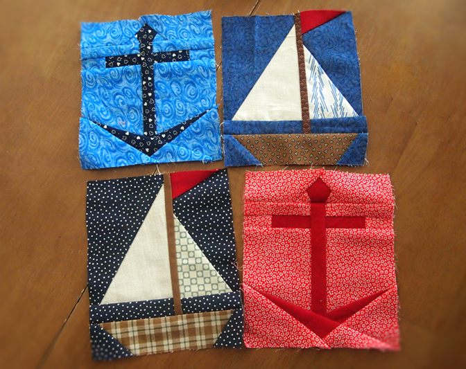 New Patterns Anchor Sailboat Protoquilt