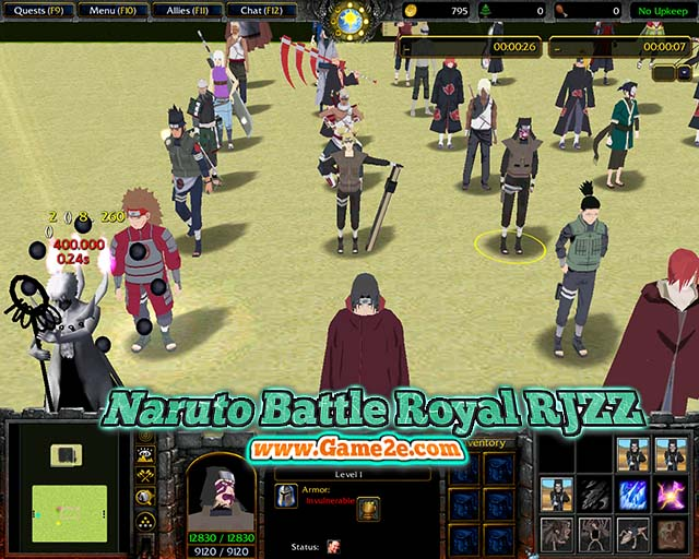 ❤❤ naruto battle royal ++ warcraft 3 map download ++ anime.