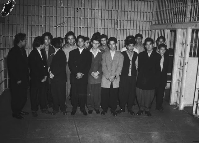 Mexican American youths detained for questioning, 1943 Courtesy Department of Special Collections, Charles E. Young Research Library, University of California at Los Angeles. Copyright UC Regents