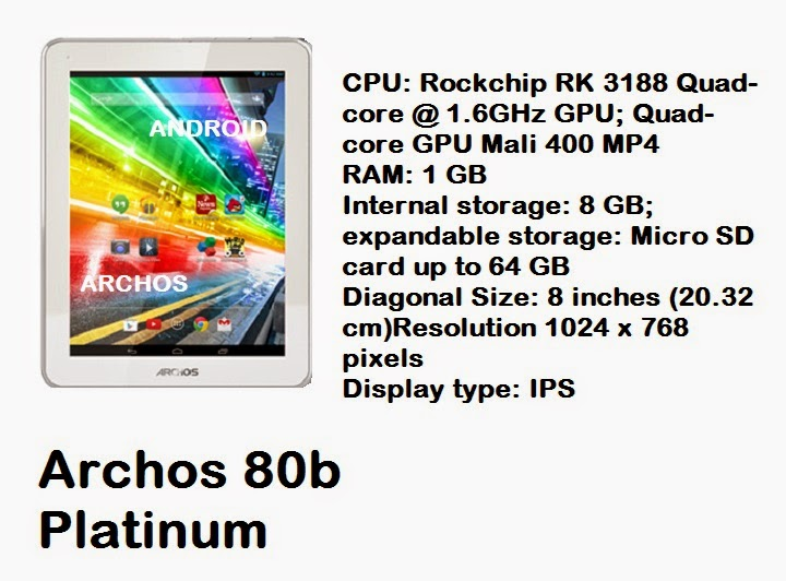 Archos 80b Platinum tablet