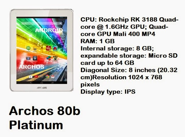 Archos 80b Platinum 8 inch Android tablet