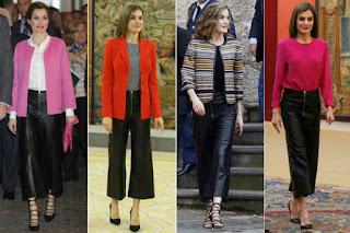 Reina Letizia pantalones Uterqüe