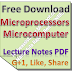 Microprocessors Microcomputer Lecture Notes PDF