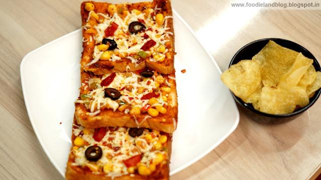 Mexican Corn Toastizzas @ Stuffd | Indiranagar | Bangalore