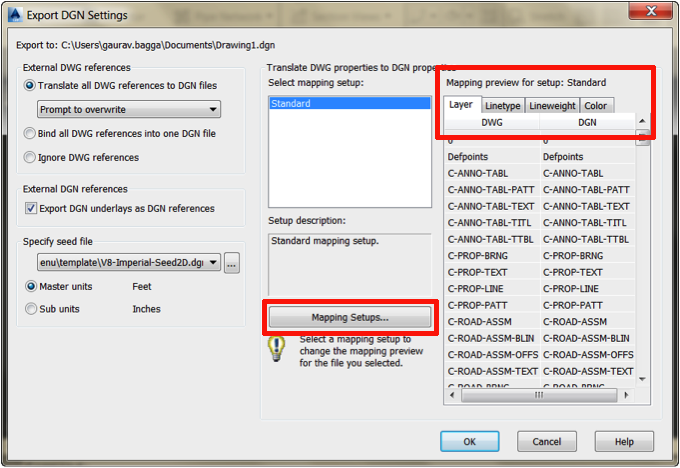 AutoCAD Civil 3D 2014: Hidden Command – Export to DGN