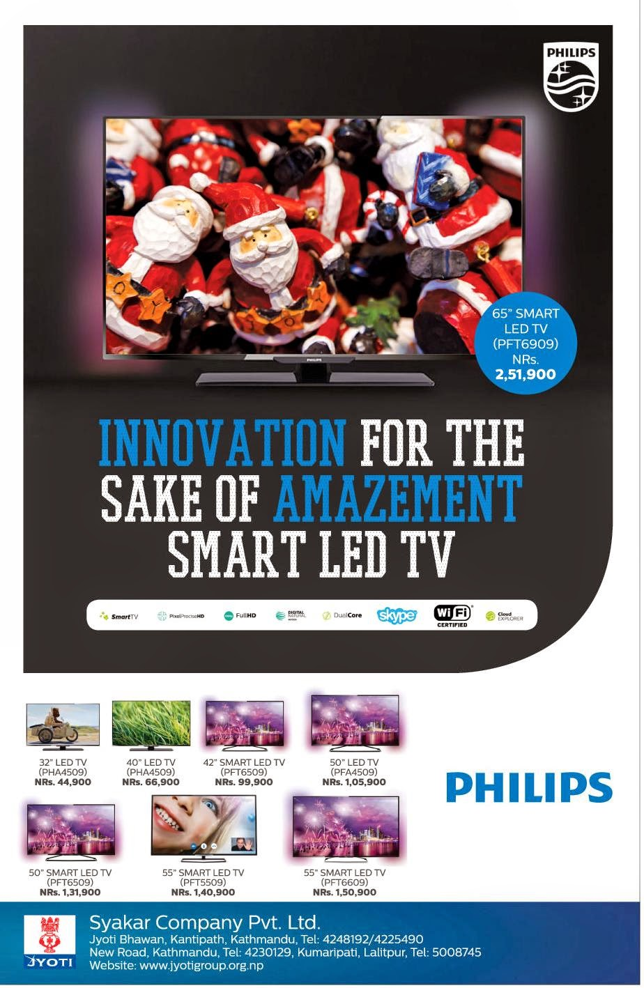 philips tv price in nepal