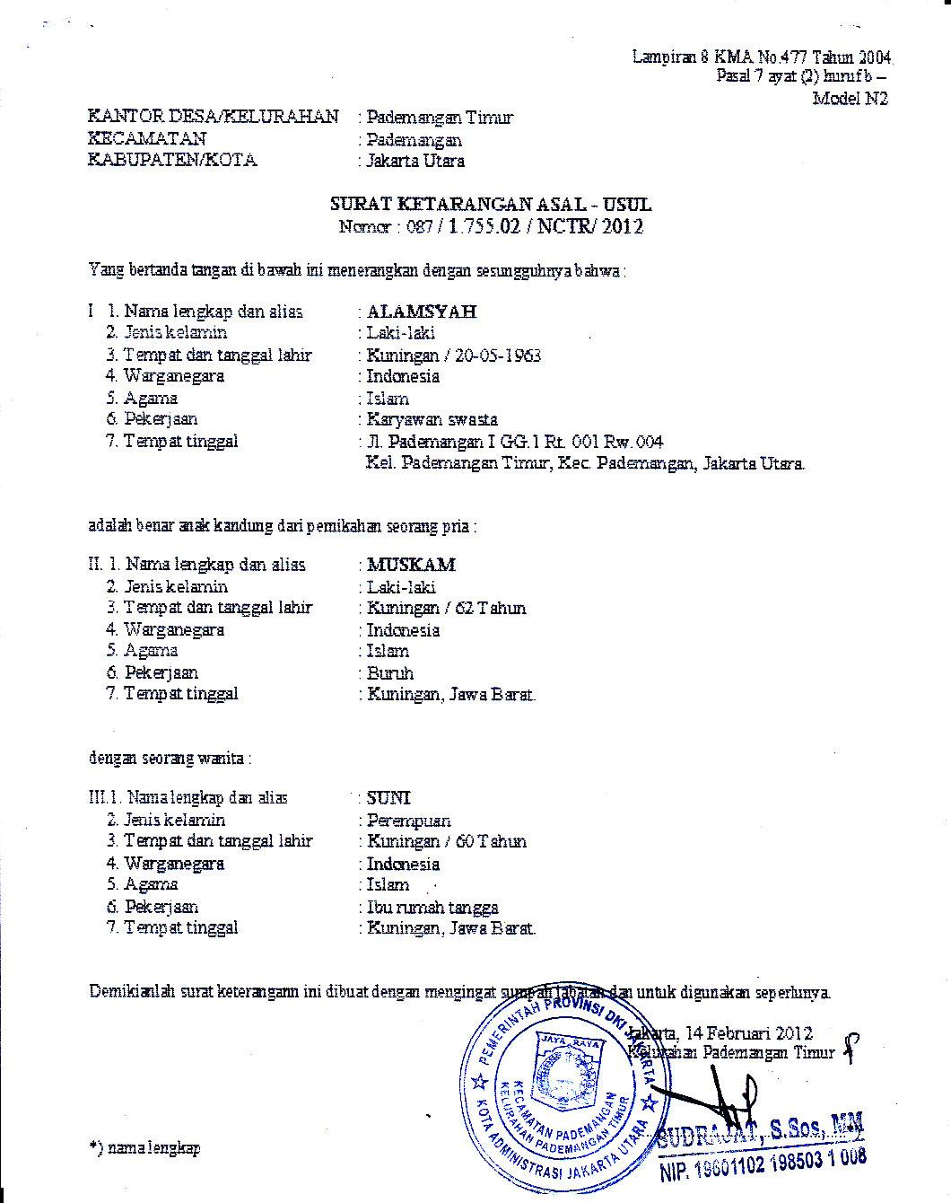 Contoh Surat Pengantar Rt Untuk Menikah
