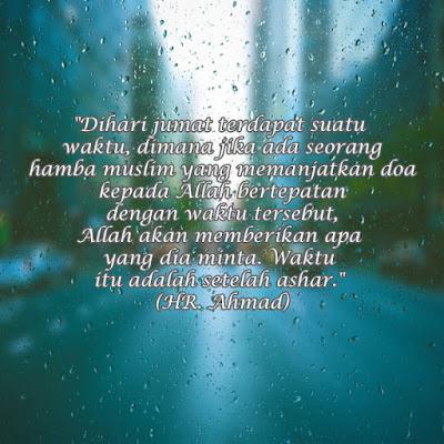 waktu mustajab doa jumat