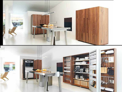 smart wooden hidden kitchen designs