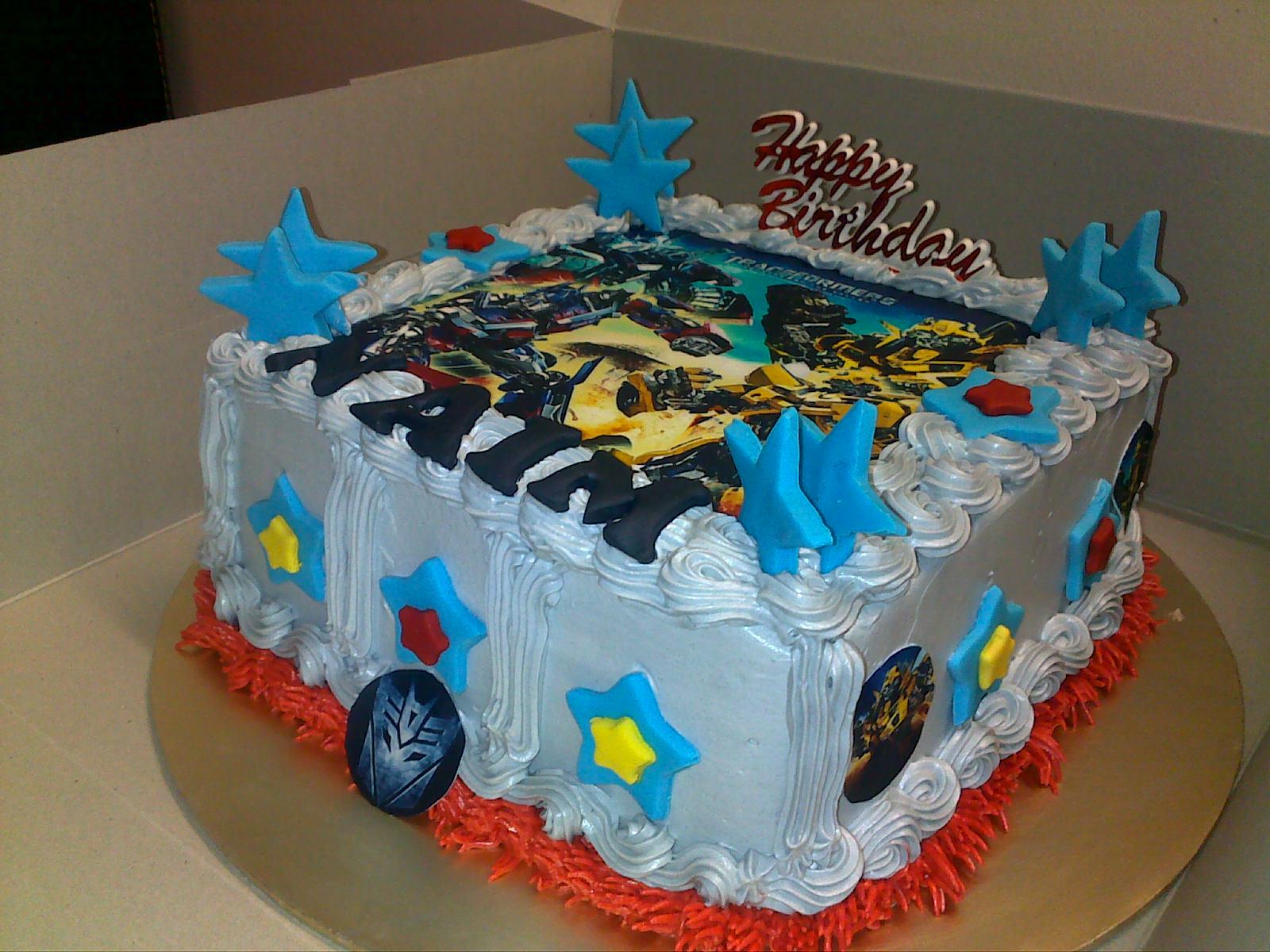 Cupcakes At Putrajaya Transformers Birthday Cake